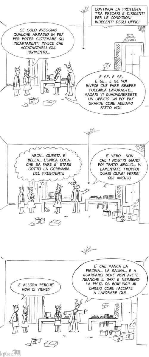 Troppe lamentele per la mancanza di spazi negli uffici