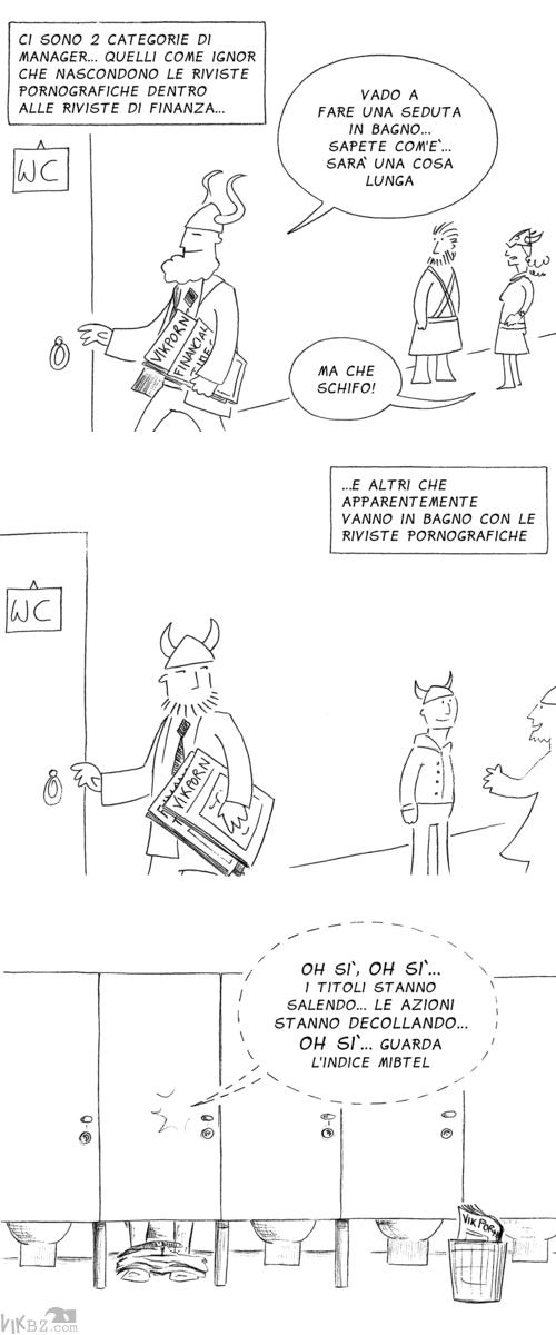 Manager, riviste porno e titoli di borsa